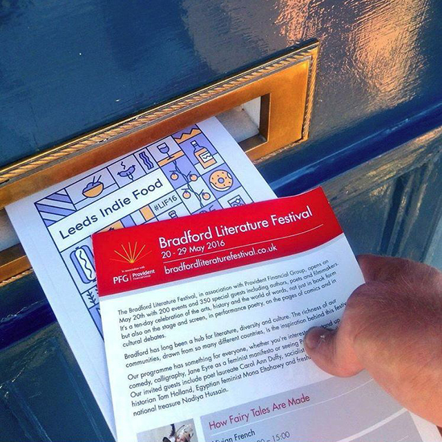 Door-to-door distribution in Saltaire village, 2016